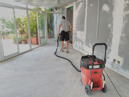 Pavimento in cemento lucido a milano