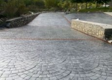 Stamped or printed concrete for yards or terraces